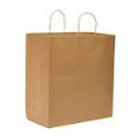 BROWN PAPER BAGS WITH HANDLES  Supermarket bags (250)