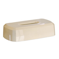 FLAT BOX FACIAL TISSUE DISPENSER Cream, Sold Individually **limited to stock on hand**