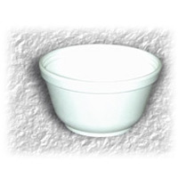 STYROFOAM BOWL  #82100, 12oz, WHITE (1000) PN:13133