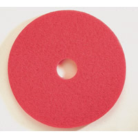 """RED, SPRAY BUFFING (POLYESTER) 7.75"""" Pad, 3"""" Hole (5)"""