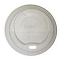 "INGEO™ COMPOSTABLE LIDS For 8oz Hot Cups, Diameter: 3.15"", White 1,000 per case"
