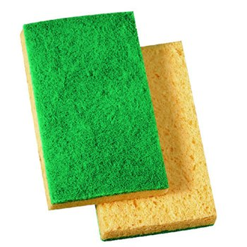 MEDIUM DUTY SCRUBBING SPONGE PAD174 20/cs
