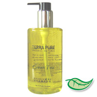 RETAIL SIZE TERRA PURE® GREEN TEA™ ORGANIC SHAMPOO 10.14 oz pump bottle