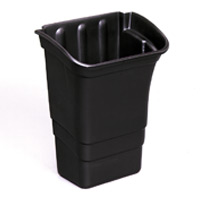 RUBBERMAID® UTILITY & REFUSE BINS FOR SERVICE CARTS 8gal Black refuse bin 12x17x22""