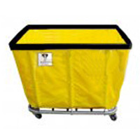 "16 BUSHEL KNOCKDOWN LAUNDRY TRUCK Yellow, 41.5""x30.25""x37"""