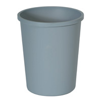 UNTOUCHABLE® ROUND CONTAINERS & LIDS 44.37qt Gray container 15.75x18.75""