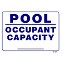 """OCCUPANT CAPACITY"" SIGN 12""X18"" packed (1 each)"