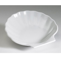 "SHELL SIDE DISH WHITE COLOR 5.5"" DIAMETER (4 3/4 x 4 7/8"" x"