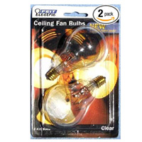 FEIT #BP25A15C/CL/CF  CEILING FAN LIGHT BULB, CLEAR, A15, E12 BASE (24) PN:13639