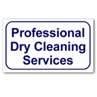 """""""PROFESSIONAL DRY CLEANING SERVICES"""" LAUNDRY SIGN 10""""x16"""" #L326"""