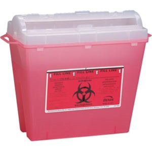 SHARPS DISPOSAL CONTAINER 5 QUART