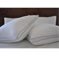 "ALLERGY SHIELD MICROGEL PILLOWS SOFT FILL WITH 1"" GUSSET Queen 31oz fill"