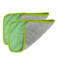 eSERIES WALL WASH & HARD SURFACE CLEANING CLOTHS Green edged Doublesided HDuty microfiber cloth 8x10""
