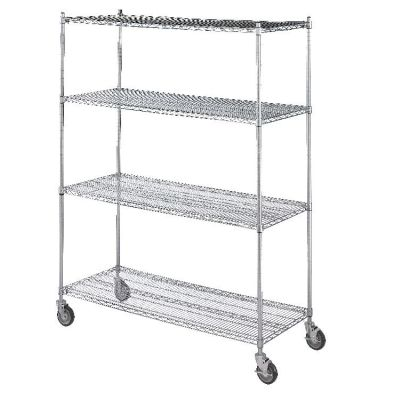 LINEN CART c/w 4 WIRE SHELVES 24x48x72