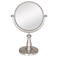 NON LIGHTED VANITY MIRROR SATIN NICKEL 1X/8X Magnification