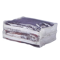 CLEAR STORAGE BAG 15x18x12, ZIPPERED Packed: 1 each