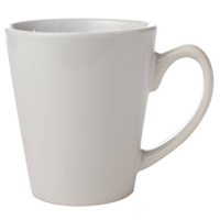 CERAMIC COFFEE MUGS - 12 OUNCE  Small Cone, White Packed 36