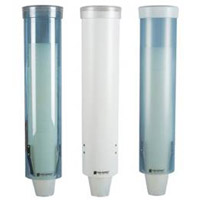 MEDIUM PULL-TYPE CUP DISPENSER Fits 4 - 10oz flat cups and cone cups, Arctic Blue