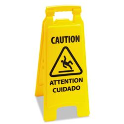 SAFETY WET FLOOR SIGN  Bilingual (English/Spanish)