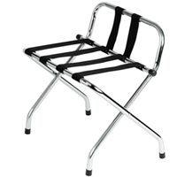 "Metal Luggage Rack  Chrome Plated Finish With Back Rest (25""x26""x17"")..."