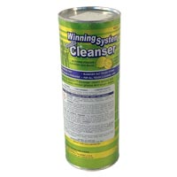 WINNING SYSTEM™ CHLORINE BLEACH CLEANSER Calcite Based Non-Scratch Formula Packed 24/21oz shaker ca