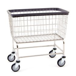COMMERCIAL LAUNDRY BASKET ON BASE WITH CASTERS