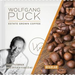 WOLFGANG PUCK'S® COFFEE IN 4 CUP FILTER POUCHES Neapolitan, Caffeinated, (150)
