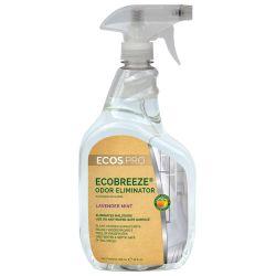 EARTH FRIENDLY ECOBREEZE FABRIC REFRESHER ODOR ELIMINATOR Lavender Mint packed 6/32oz sprayers