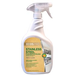 EARTH FRIENDLY STAINLESS STEEL POLISH WITH SOY OIL 6/32 oz trigger spray bottles