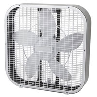 "HOLMES STANDARD BOX FAN 3 SPEED WHITE 20"" Packed: 1 each"