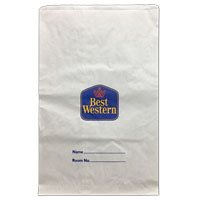 "BEST WESTERN PAPER LAUNDRY BAGS  17""X26"" Packed 500 CLOSEOUT SALE PRICE!"