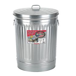 31 GALLON GALVANIZED STEEL TRASH CAN WITH LID
