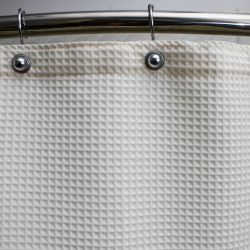 """WAFFLE WEAVE SHOWER CURTAINS POLYESTER/COTTON Champagne 72x72"""""""