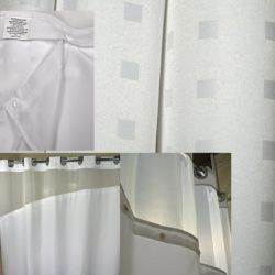 """EZY-HANG HOLIDAY DOT SHOWER CURTAIN 72x72"""" White"""