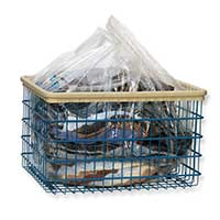 DISPOSABLE PLASTIC LAUNDRY CART LINER BAG Clear, Bulk Packed 250