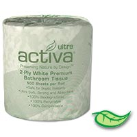 ACTIVA® ULTRA PREMIUM TOILET TISSUE 2/ply ***IN STOCK NOW!*** 96 rolls/500 sheets per roll