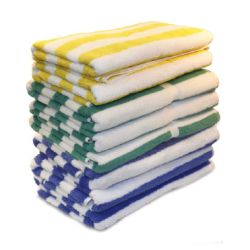 CABANA POOL TOWEL (Packed 24) 30x60 Blue Stripe 15lb