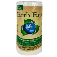 "EARTH FIRST® KITCHEN ROLL TOWELS 2-PLY White (30 rolls/85 sheets) 11"" x 8"" Sheet"