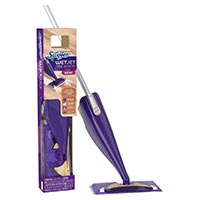 SWIFFER® WETJET™ WOOD STARTER KIT (2 PER CASE) Each kit contains: 1 mop, 5 pads 500ml solution, 4 batteries