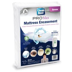 "CLEANREST® PRO® MAX MATTRESS ENCASEMENT Twin 39""x75""x7"" to 12"" packed 4"