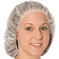 "BOUFFANT 21"" WHITE HAIR CAP Packed 100"