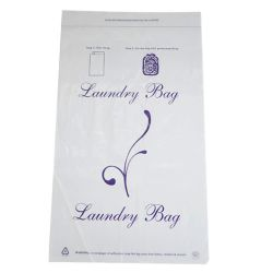 "UNIVERSAL LAUNDRY BAG TEAR TAPE 14""x24"" .9mil White"