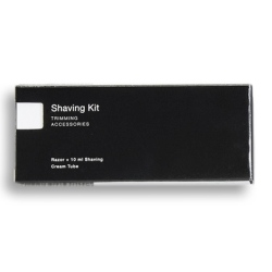 RSA UNIVERSAL ACCESSORIES BLACK & WHITE Shaving Kit, boxed