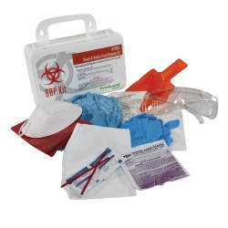 MASK, PROTECTIVE GLASSES, GLOVES AND MORE IN CLEAN UP KIT 12 safety items in plastic case (Includes gloves, mask, etc.)...