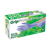 GripProtect® BLUE NITRILE MEDICAL EXAM GLOVES Small (100/box)