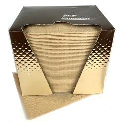 "KIMTOWELS® ECONOMY 3-PLY TAN WIPERS 12"" x 15"" (50/box)"