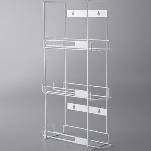 3 BOX WALL MOUNT WIRE GLOVE DISPENSER RACK White wire. Hardware included.