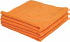 "ORANGE HEAVYWEIGHT MICROFIBER CLEANING CLOTHS 16""x16"" Sold Individually"