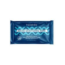 TRAVEL-LITE HAND SANITIZING WIPE, INDIVIDUALLY WRAPPED Packed 200. Can also be used as hard surface disinfecting wipe....