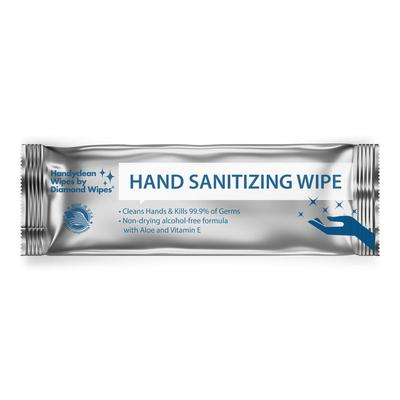 HANDYCLEAN HAND SANITIZING WIPES INDIVIDUALLY WRAPPED Packed 15. Can also be used to disinfect surfaces.
